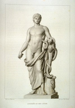 Antinous en bon genie...sixty first plate in the book... Le Musée royal (Paris: P. Didot, l'ainé, 1818), vol. 2
