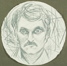 Untitled, between pgs. 3 and 4, in the book Self-Portrait In A Convex Mirror by John Ashbery (San Francisco: The Arion Press, 1984)