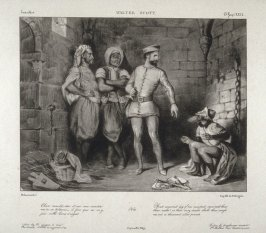 The Templar Reginald Fronte de Boeuf and the Jew Isaac of York in the Dungeon