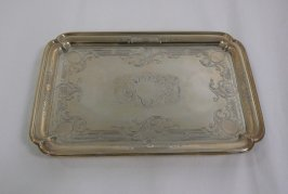 Engraved salver, rectangular