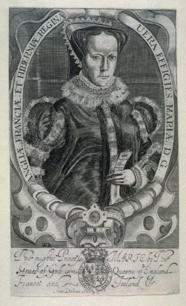 Portrait of Mary, Queen of England, illustration to the 'Baziliologia, a Booke of Kings' (1630 edition)