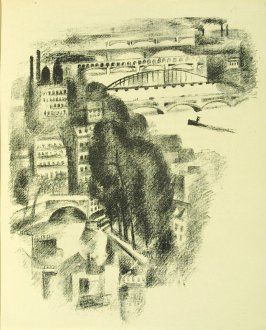 Untitled, between pgs. 98 and 99, in the book Allo! Paris! by Joseph Delteil (Paris: Éditions des Quartes Chemins, 1926)