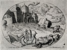 The Prophet of Judas, killed by a lion. From a Set of eleven scenes from the Old Testament