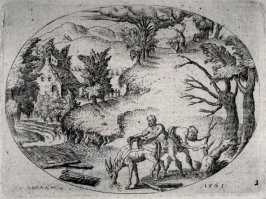 The Sacrifice of Abraham. From a Set of eleven scenes from the Old Testament