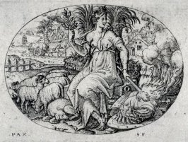 Peace. From: Peace, Abundance, War and Famine (set of four engravings)