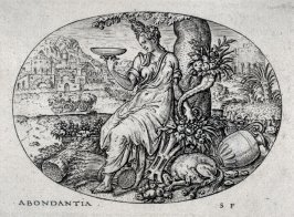 Abundance. From: Peace, Abundance, War and Famine (set of four engravings)