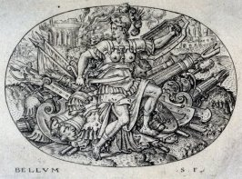 War. From: Peace, Abundance, War and Famine (set of four engravings)