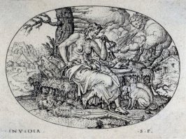 Famine. From: Peace, Abundance, War and Famine (set of four engravings)