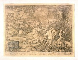 One from History of Apollo and Diana (set of six engravings)