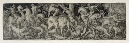 Combats and triumphs: Eight hunters in fight with animals (7 from a series of 12 engravings)