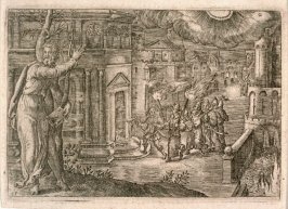 One from Moral Allegories (set of 20 engravings)