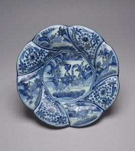 Plate, blue and white Chinoiserie