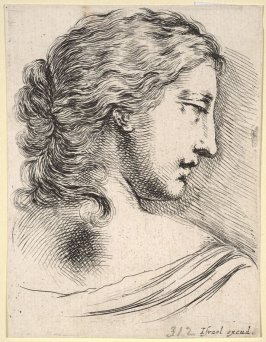 Profile of a Woman Looking Over Her Shoulder, from the series Diverses testes et figures