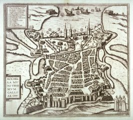 Plan and View of the Siege of La Rochelle