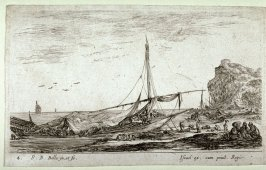 A Galleon Covered by its Sail, from the series Paysages Maritimes