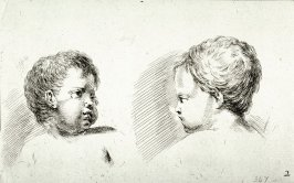 Two Child's Heads, from the series Recueil de Diverse Pièces Servant À L'Art de Portraiture