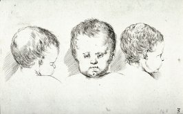 Three Children's Heads, from the series Recueil de Diverse Pièces Servant À L'Art de Portraiture