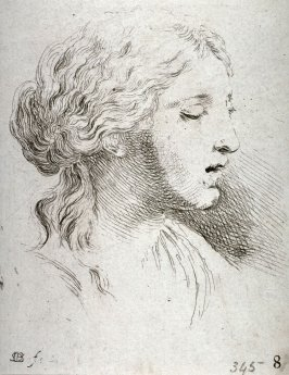 Bust of a Woman Turned to the Right, from the series Recueil de Diverse Pièces Servant À L'Art de Portraiture
