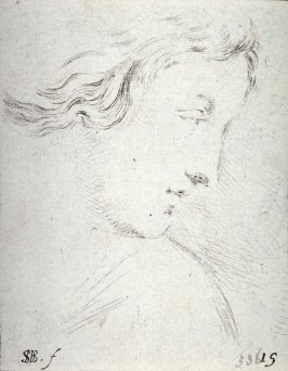 Head of a Woman in Profile, from the series Recueil de Diverse Pièces Servant À L'Art de Portraiture