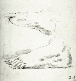 Two Feet in Profile, from the series Recueil de Diverse Pièces Servant À L'Art de Portraiture