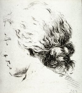 Profile of a Woman Turned to the Left, from the series Recueil de Diverse Pièces Servant À L'Art de Portraiture