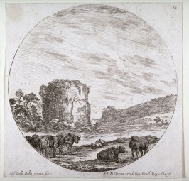 The Ruins of an Ancient Temple, from the series Landscapes and Ruins of Rome