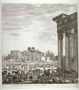 The Temple of Antonius and the Campo Vaccino, from the series Six Large Views of Rome and the Countryside