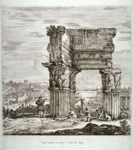 The Temple of Concordia and the Forum, from the series Six Large Views of Rome and the Countryside