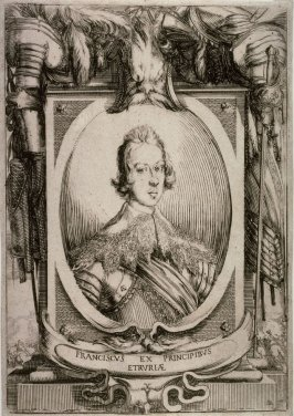 Francesco De Medici, Grand Duke of Tuscany from the book Esequie del Serenissimo Principe Francesco celebrate in Fiorenza...il di 30 d'agosto 1634...