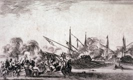Combat Between Ships and Galleys, from the series Eight Seascapes