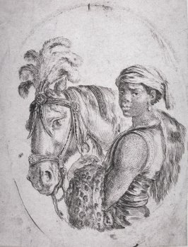Black Slave Holding A Horse By The Bridle, from the series Plusieurs têtes coifées à la persienne