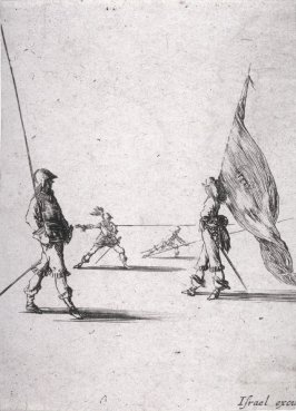 A Flag Bearer and a Lance Carrier, from the series Recueil de diverses pièces très necessaires à la fortification