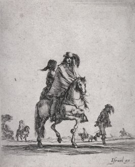 Soldier on Horseback with a Woman Riding Behind, from the series Divers exercices de cavalerie