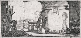 Soldier In Front of the Guardhouse, from the series Dessins de quelques conduites de troupes