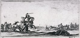 Soldiers Fighting in a Landscape, from the series Dessins de quelques conduites de troupes