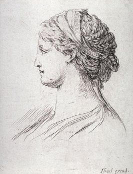 Profile of a Woman With A Scarf, from the series Diverses testes et figures