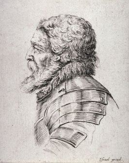 Profile of a Bearded Man in Armor, from the series Diverses testes et figures