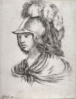 A Youth Wearing a Plumed Helmut, from the series Diverses testes et figures