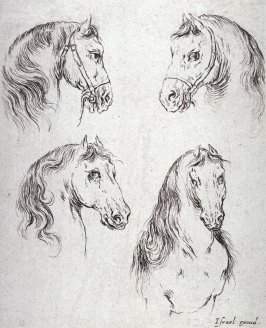 Four Horses's Heads, from the series Diverses testes et figures