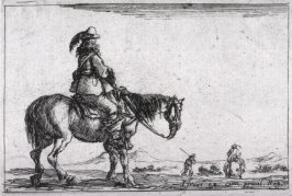 Horse and Rider, pl. 4 from the series Caprice faict par de la Bella