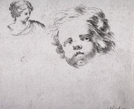 Head of a Woman and a Child, from the series Second recueil de divers griffonnements et preuves d'eau-forte