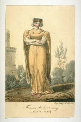 Woman of high rank, from 1300-1330