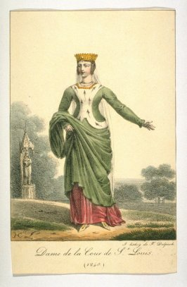 Woman of the court of St. Louis, 1240