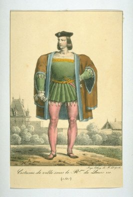Costume of a city man under Louis XII, 15l0
