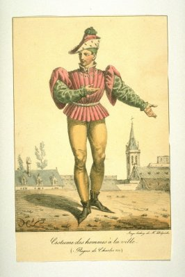 Costume of a city man during the reign of Charles VII