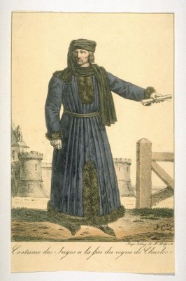 Costume of a judge during the reign of Charles V