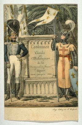 Title page, French civil and military costumes, 1200 to 1820