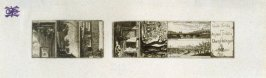 Proof Sheet from Series of eight very small landscape etchings with a title: Eaux-Fortes par Auguste Delatre a Charle (sic) Meryon, Paris, 1856