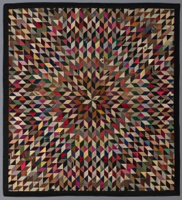 "Quilt top: ""Radiating Star"" pattern"