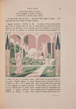 Untitled illustration, page 49 in the book Vita Nova by Dante Alighieri (Paris: Société du Livre Contemporain, 1907)